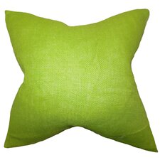 Portsmouth Solid Burlap Throw Pillow