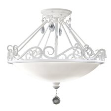 Chateau Blanc 2-Light Semi-Flush Mount