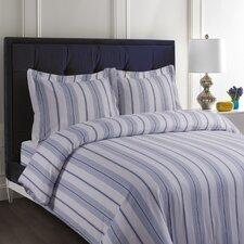 Flannel Cotton Stripe Duvet Set