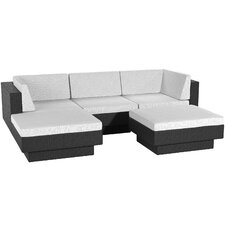 Park Terrace 5 Piece Deep Seating Grouping With Cushions