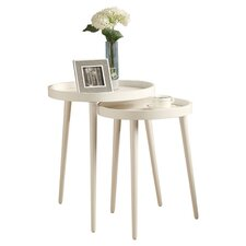 Deltha 2 Piece Nesting Table Set