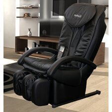 Faux Leather Reclining Massage Chair with Ottoman