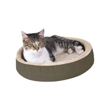 Cuddle Up Heated Cat Bed in Mocha