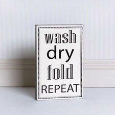 Wash Dry Fold Brick Sign Wall Décor