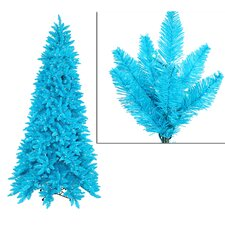 10' Sky Blue Ashley Spruce Christmas Tree with Clear and Blue Lights