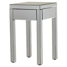 Valentina Mirrored 1 Drawer End Table