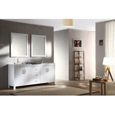 Hanson 72 Double Bathroom Vanity Set with Mirror by Ariel Bath