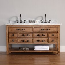 Malibu 60 Double Honey Alder Bathroom Vanity Set by James Martin Furniture