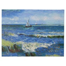 Seascape at Saintes Maries' by Vincent Van Gogh on Canvas in Blue