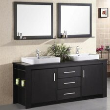Parsons 72 Double Bathroom Vanity Set with Mirror by Wade Logan