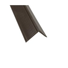 """1.13"""" x 1.38"""" x 72"""" Stair Nose in Brown"""