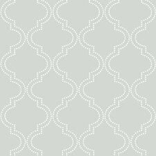 "Grey Quatrefoil 18' x 20.5"" Peel And Stick Wallpaper"