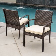 Dixie Dining Arm Chair with Cushion (Set of 2)
