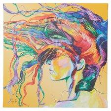Windswept by Linzi Lynn Framed Graphic Art Print on Canvas