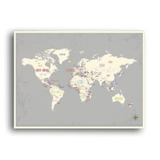 World Map Paper Print