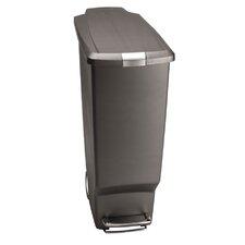 Plastic 10.6 Gallon Step On Trash Can