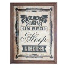 Gerahmtes Glasbild Breakfast In Bed