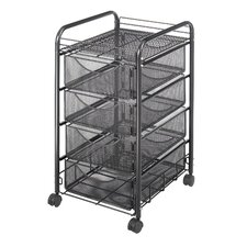 Mesh Utility Cart with Drawers
