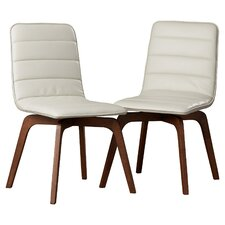 Swainswick Genuine Leather Upholstered Dining Chair (Set of 2)
