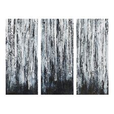 'Birch Forest' 3 Piece Graphic Art on Wrapped Canvas Set (Set of 3)