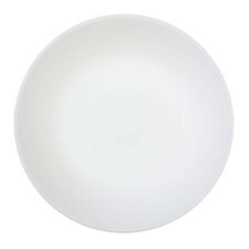 Winter Frost White 6 Piece Glass Bread and Butter Plate in White (Set of 6)