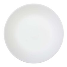 Winter Frost White 6 Piece Glass Luncheon Plate in White (Set of 6)