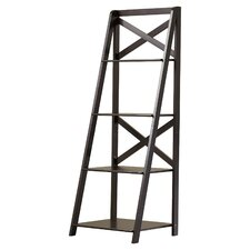 """Evalyn 56"""" Leaning Bookcase"""