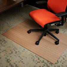 Low Pile Bamboo Composite Office Chair Mat