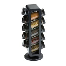 Slim Rotating 10 Jar Spice Jar & Rack Set