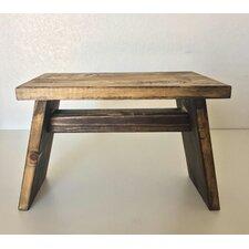 Primitive Wooden Riser End Table by Established 98