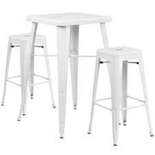 Athens 3 Piece Bar Table Set