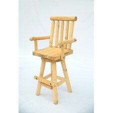 "29"" Swivel Log Bar Stool"