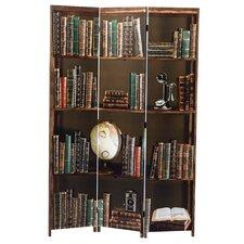 71 x 48 Bota Books 3 Panel Room Divider by nexxt Design