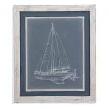 Yacht Sketches I Framed Painting Print