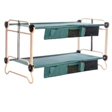 Extra Large Disc-O-Bed with 2 Side Organizers, and Set of Leg Extensions