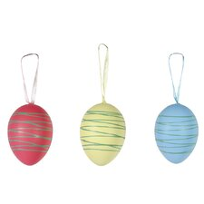 12 Piece Drizzled Egg Pod Ball Ornament Set