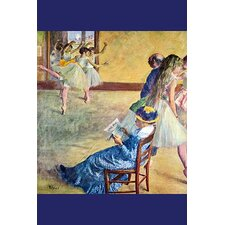 'During the Dance Lessons - Madame Cardinal' by Edward Degas Painting Print