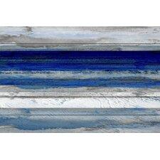 'Beach & Nautical Tarrafal' by Parvez Taj on Wood in Dark Blue