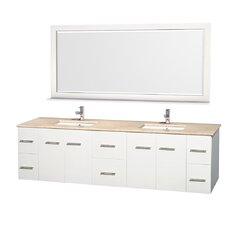 Centra 80 Double Bathroom Vanity Set with Mirror by Wyndham Collection
