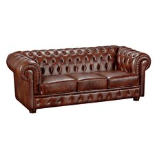 3-Sitzer Sofa Bridgeport aus Leder