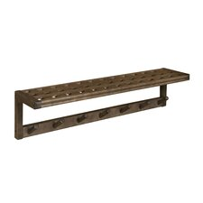 Beaumont Solid Birch Wood Large Peg Rack with Shelf by New Ridge Home Goods