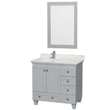 Acclaim 36 Single Bathroom Vanity Set with Mirror by Wyndham Collection