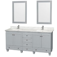 Acclaim 72 Double Bathroom Vanity Set with Mirror by Wyndham Collection