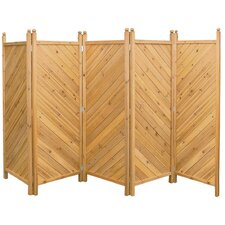 300cm x 180cm Wooden 5 Panel Room Divider