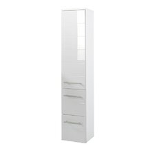 Rimini 25 x 130cm Wall Mounted Tall Bathroom Cabinet
