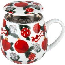 8.9 cm Tea for you Christmas Deco aus Porzellan