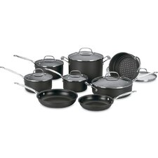 Chef's Classic Nonstick Hard-Anodized 14 Piece Cookware Set