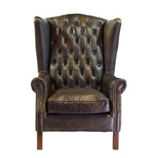 Moscow Leather Wingback Chair by Design Tree Home