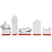 Desktructure the City 5 Piece Porcelain Desktop Organizer Set