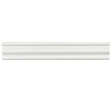 "Tivoli 12"" x 2"" Ceramic Counter Rail Tile Trim in White (Set of 3)"